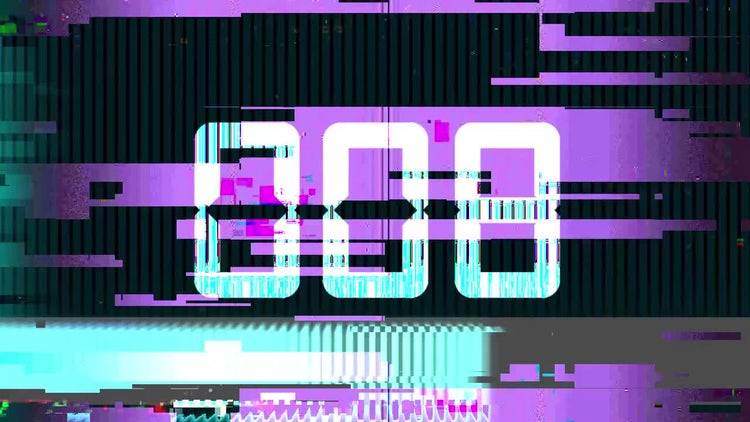 Glitch Countdown: Stock Motion Graphics