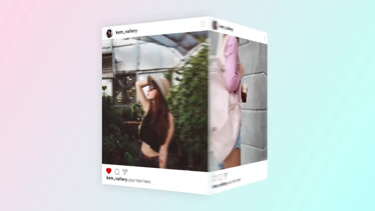 Instagram Cube Gallery Promo: After Effects Templates