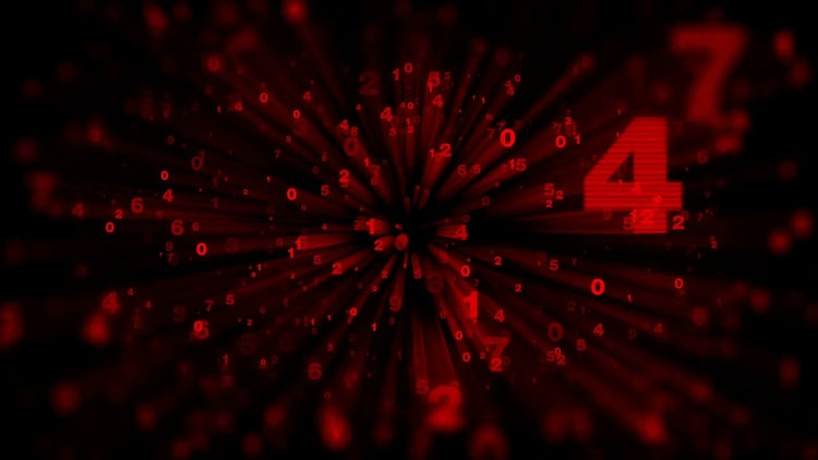 Red Numbers Animated Background: Stock Motion Graphics