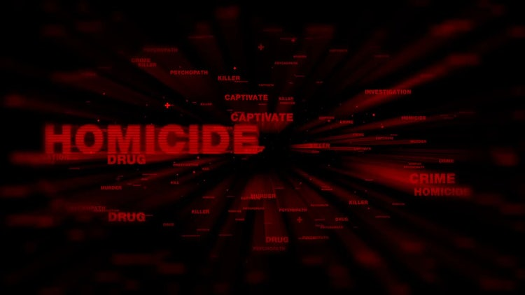 Crimes In Red Text: Motion Graphics