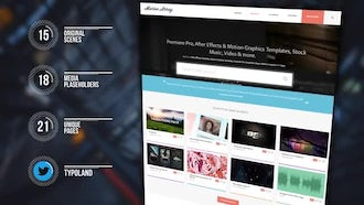 Website Presentation: After Effects Templates