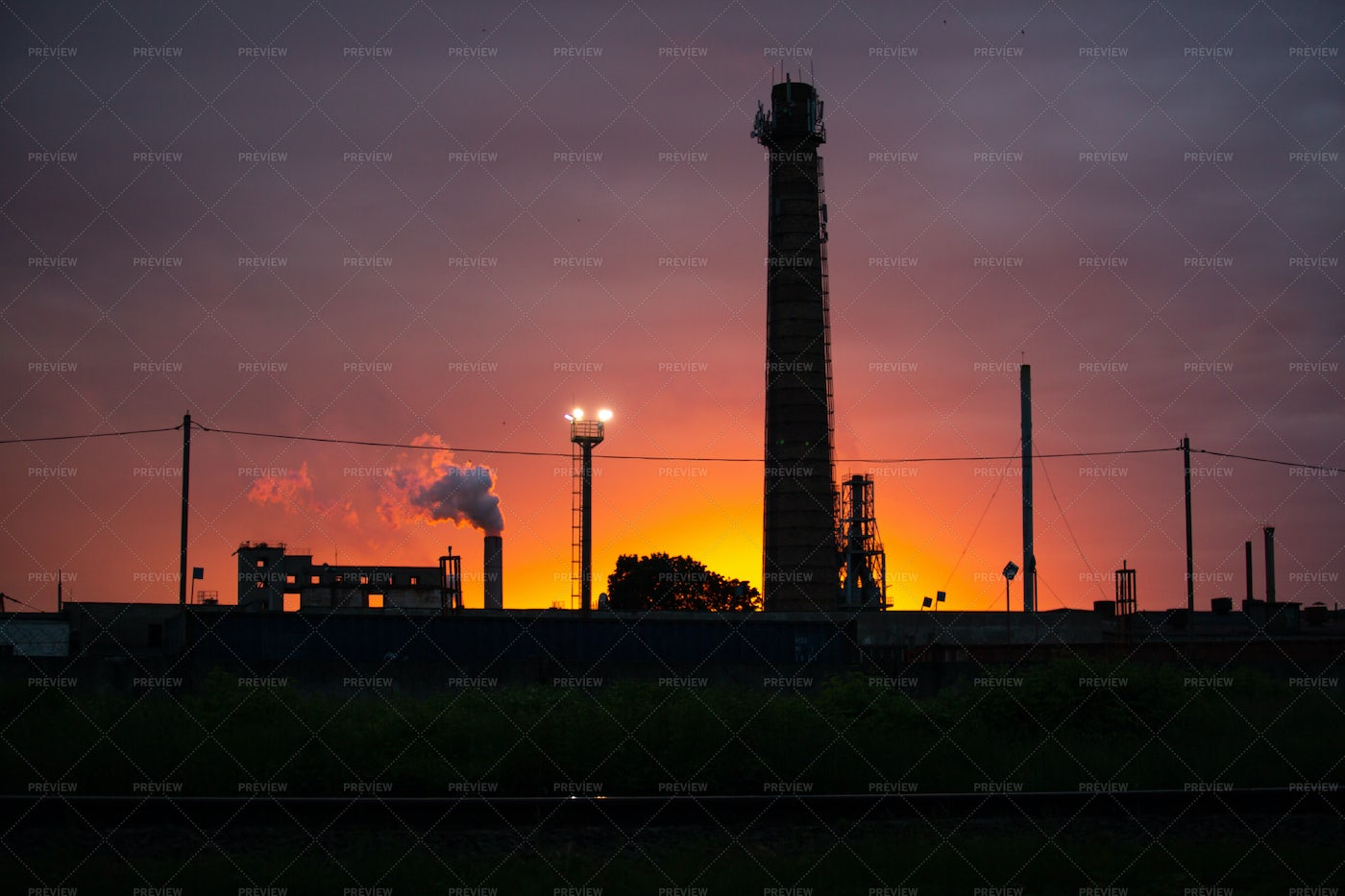 Working Industrial Plant: Stock Photos