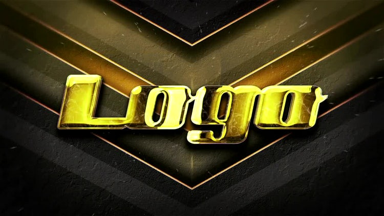 Gold Logo Intro: After Effects Templates