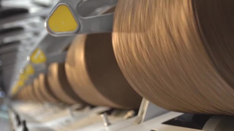 Weaving Factory 01: Stock Video