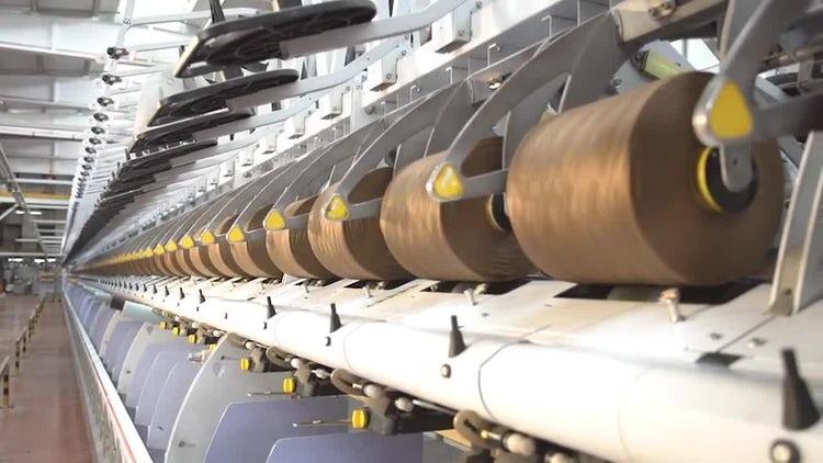 Weaving Factory 02: Stock Video