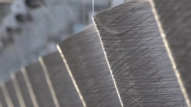 Weaving Factory 04: Stock Video