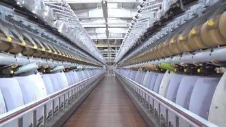 Weaving Factory 05: Stock Video
