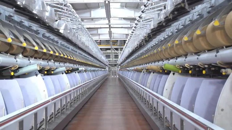 Weaving Factory 05: Stock Video