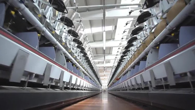 Weaving Factory 11: Stock Video