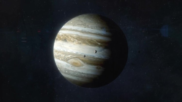 Approaching The Planet Jupiter: Motion Graphics