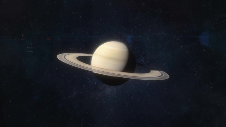 Approaching the Planet Saturn: Stock Motion Graphics