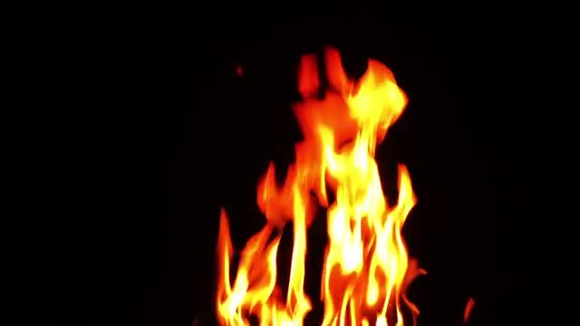 Burning Fire Background Texture 6: Stock Video