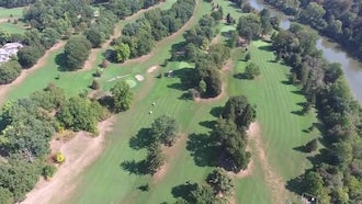 Aerial View Of Golf Course : Stock Video