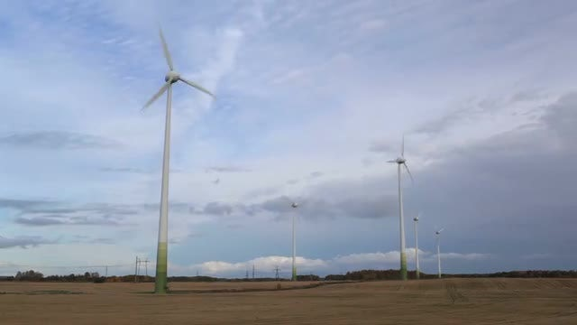 Wind Turbines Time Lapse: Stock Video