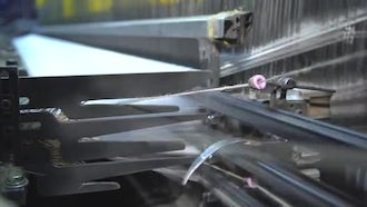 Textiles - Heavy Industrial Machinery: Stock Video