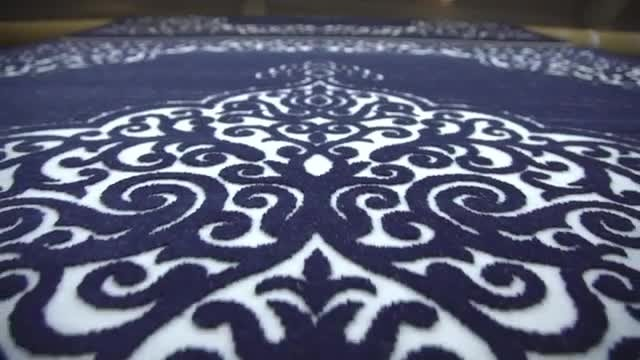 Ornate Carpet Production: Stock Video