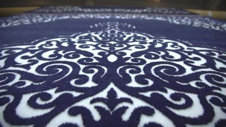 Ornate Carpet Production: Stock Video