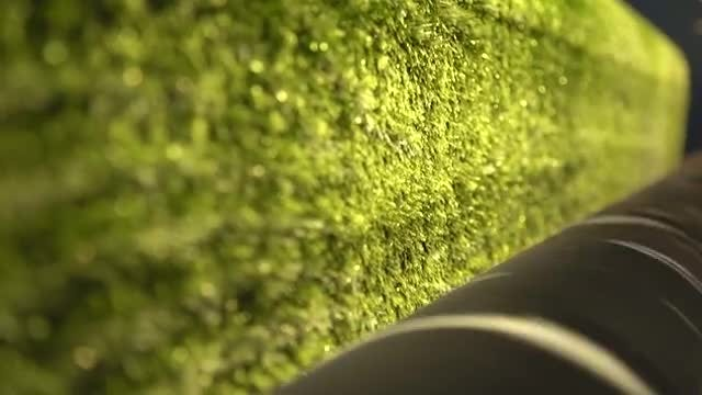 Industrial Machinery Green Carpet: Stock Video