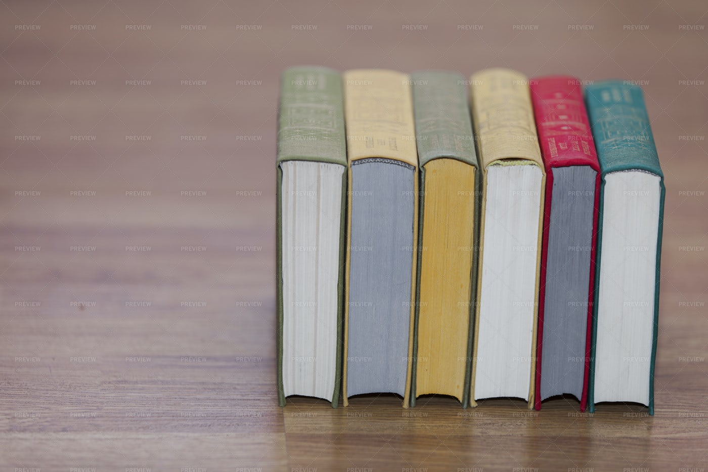 Stack Of Multi-Colored Books: Stock Photos