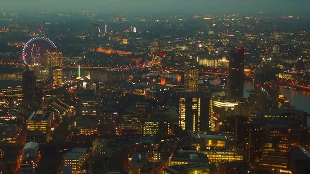Aerial Shot Of West And Central London : Stock Video