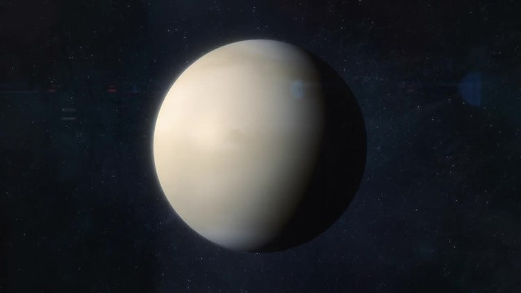 Approaching The Planet Venus: Stock Motion Graphics