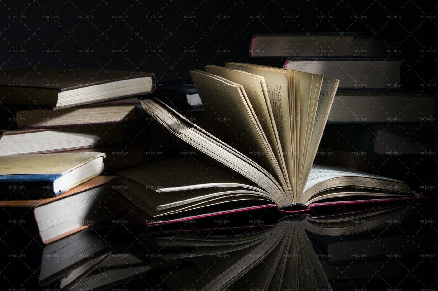 Several Books: Stock Photos