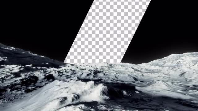 Surface Of The Moon With Transparency: Stock Motion Graphics