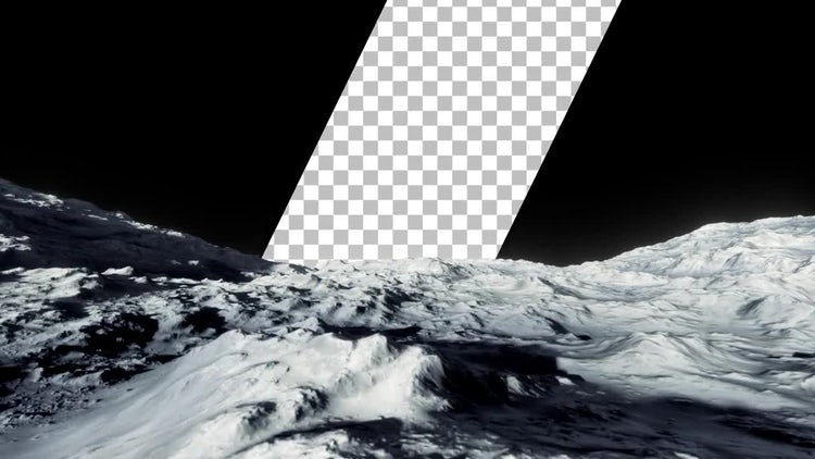 Surface Of The Moon With Transparency: Motion Graphics