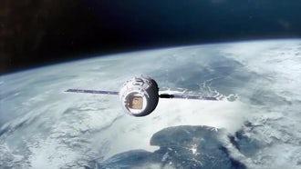 Space Capsule In Orbit Pack: Motion Graphics