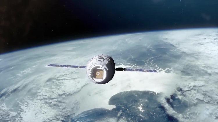 Space Capsule In Orbit Pack: Stock Motion Graphics