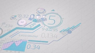 Infographics On White Paper: Motion Graphics