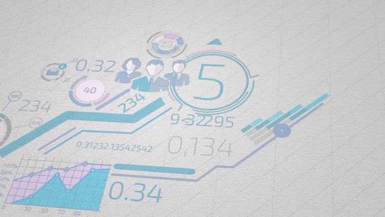 Infographics On White Paper: Stock Motion Graphics