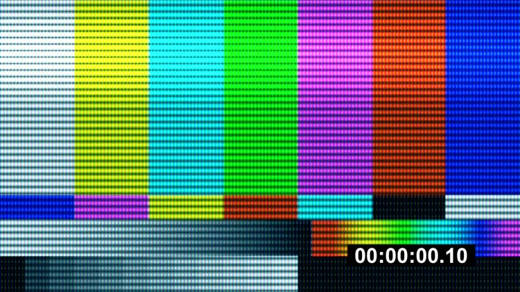 TV Test Pattern Countdown: Stock Motion Graphics