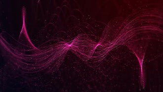 Red Particles Waves Background Loop: Motion Graphics