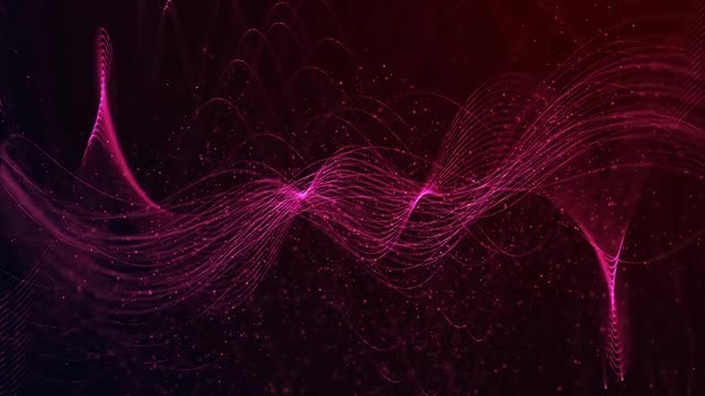 Red Particles Waves Background Loop: Stock Motion Graphics