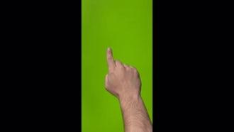 Vertical Green Screen Gestures: Stock Video