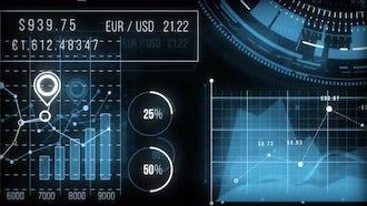 Finance HUD Graphs: Motion Graphics