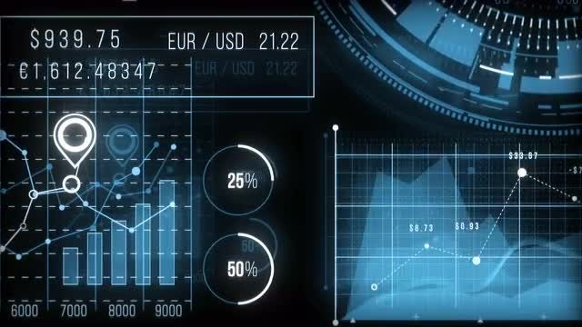 Finance HUD Graphs: Stock Motion Graphics