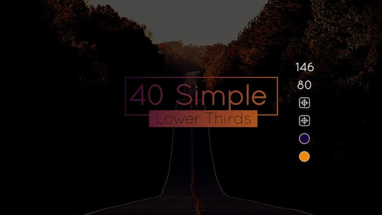 40 Simple Lower Thirds: After Effects Templates