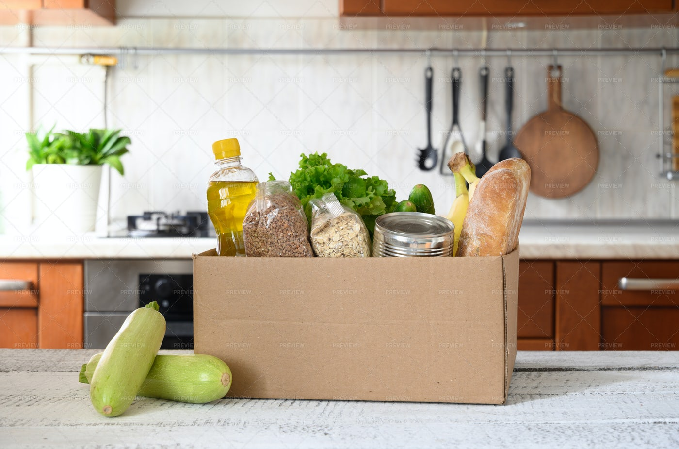 Groceries Home Delivery: Stock Photos