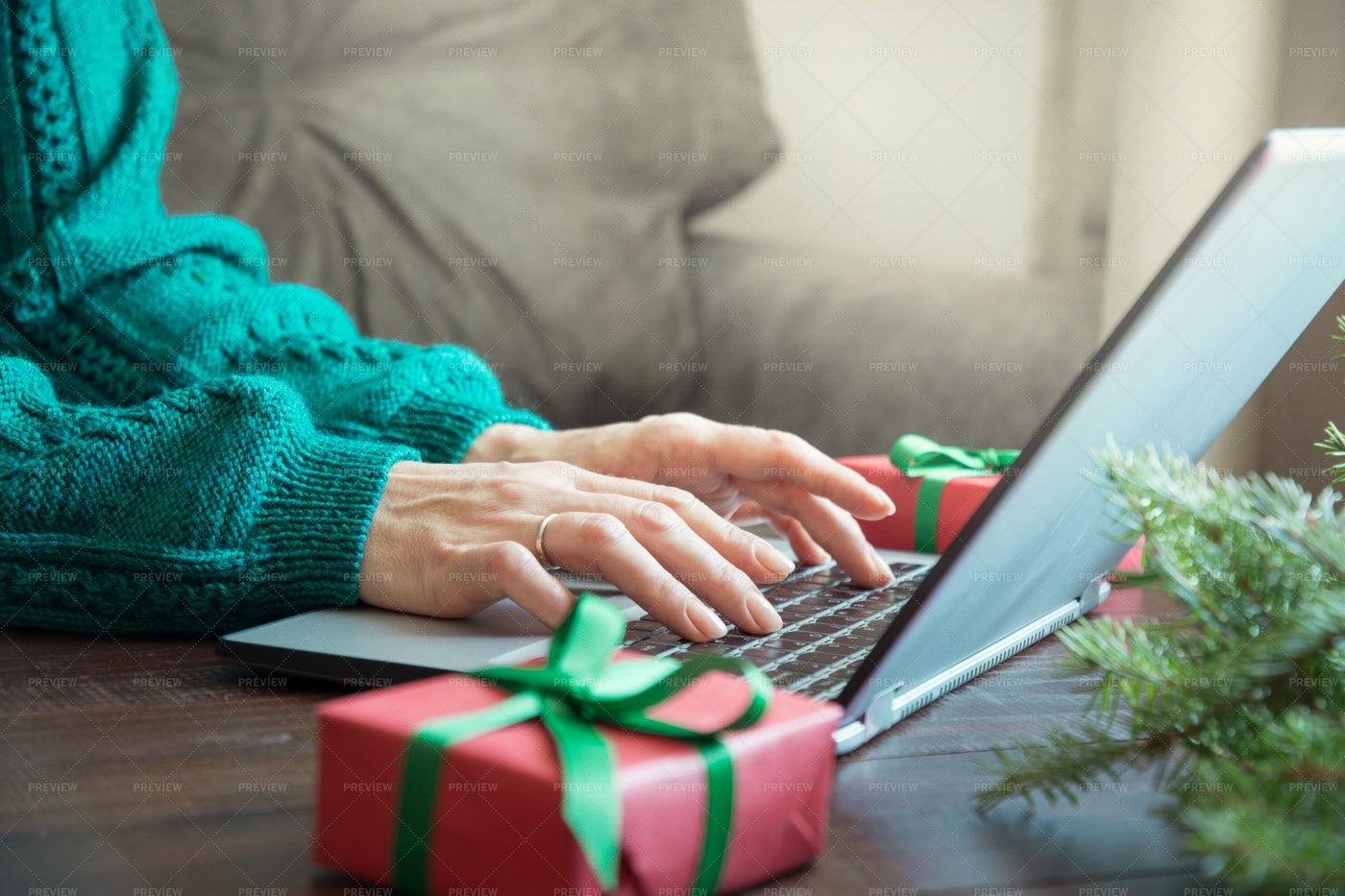 Typing On Laptop: Stock Photos