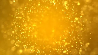 Golden Sparkles: Motion Graphics