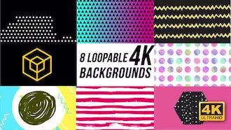 8 Trendy Loopable Backgrounds: Motion Graphics