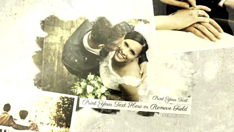 Vintage Wedding Slideshow: After Effects Templates