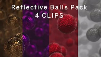 Reflective Balls Pack: Motion Graphics