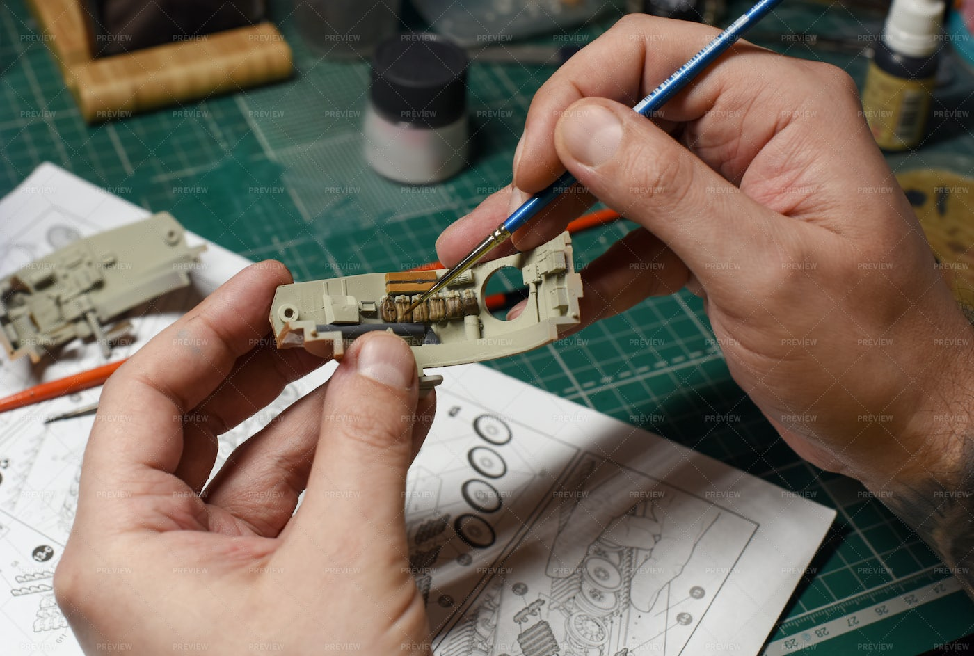 Painting A Model: Stock Photos