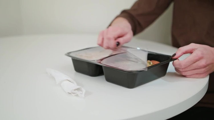 Person Unpacking Junk Food: Stock Video