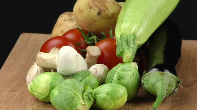 Healthy And Delicious Vegetables Mix: Stock Video
