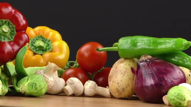 Healthy And Delicious Mix Of Vegetables: Stock Video