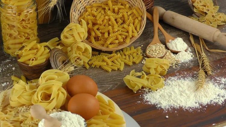 Macaroni Pasta Ingredients : Stock Video